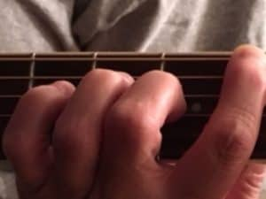 Guitar technique and finger exercise