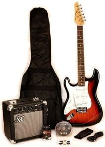 Best left handed electric guitar package